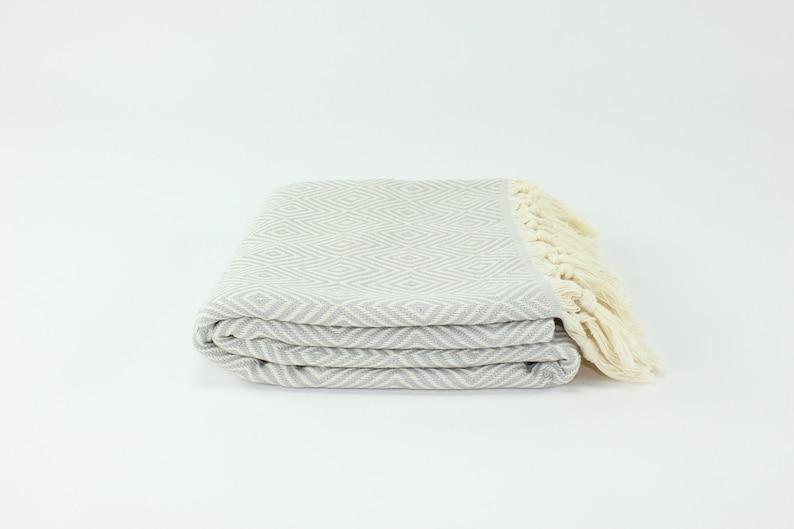 US Seller  Premium Turkish Diamond Pattern Towel Fouta image 0
