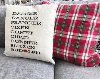 Reindeer pillow case santas reindeer christmas pillow