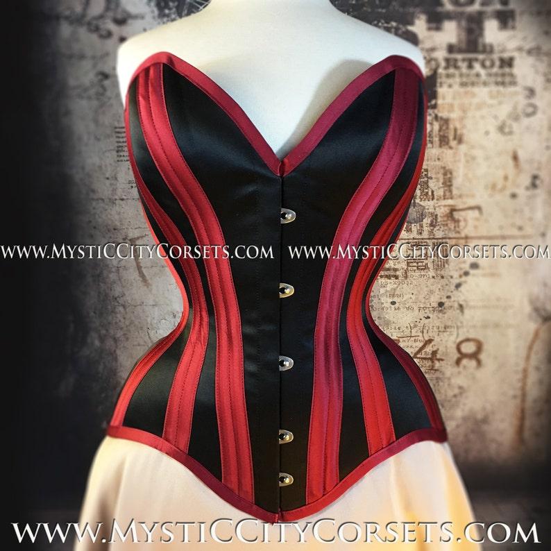 496d4ec4029 New MCC-125 satin overbust tightlacing waisttraining corset