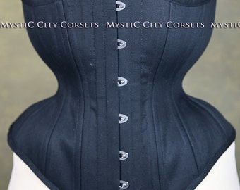 New MCC-95 cotton Underbust long line tightlacing waist training corset MystiC City Corsets