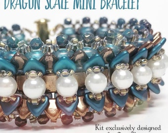 Dragonscale mini bracelet kit, teal