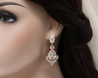 Art Deco Earrings, Great gatsby Bridal Earrings Wedding Earrings Jewelry Dangle Earrings Crystal Teardrop Earrings Wedding Jewellery