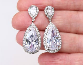 Wedding jewellery etsy art deco earrings bridal earrings wedding earringsbridesmaid earrings bridal jewelry crystal teardrop earrings wedding jewelry uk junglespirit Image collections
