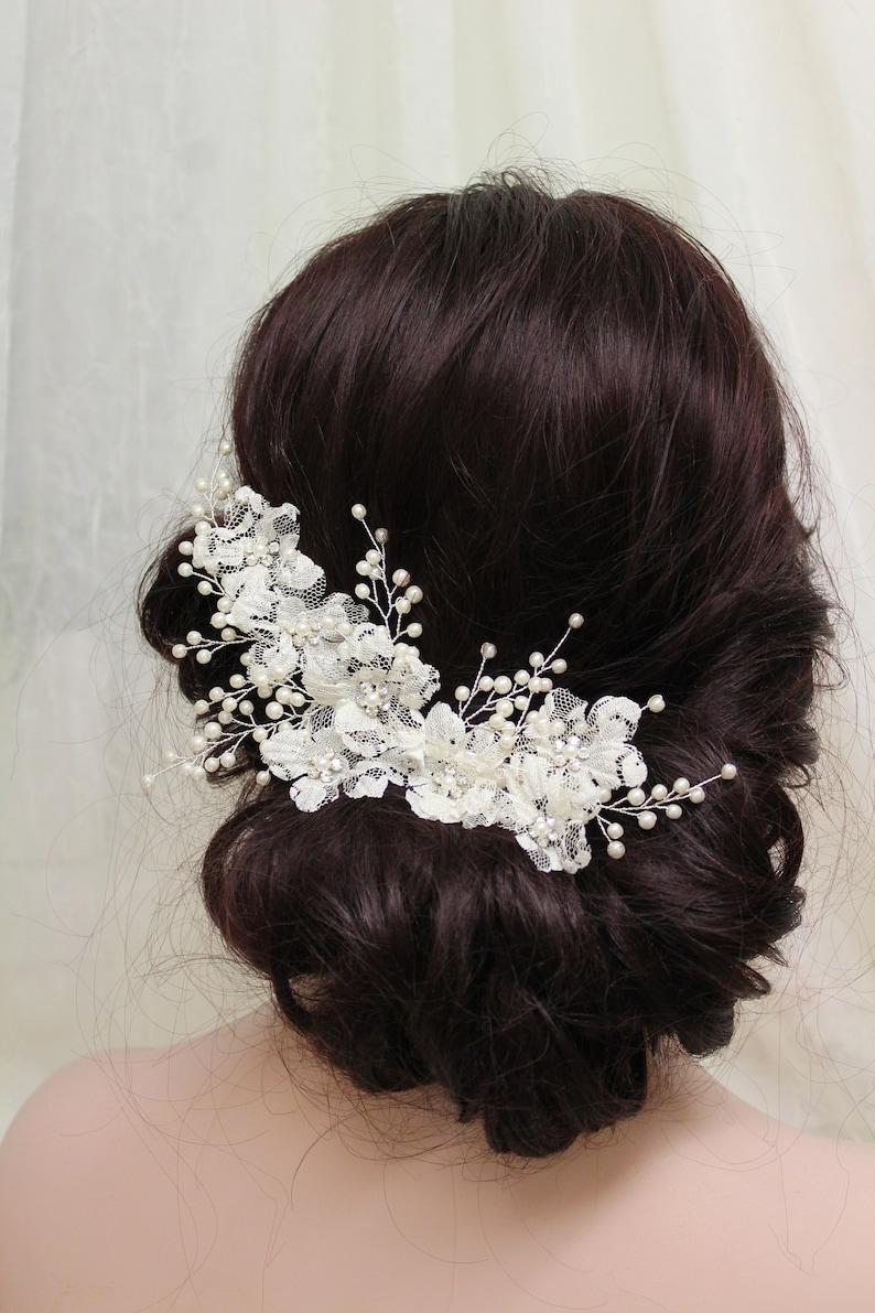 Wedding Bridal Bridesmaid Headdress Pearls Hair Clip Vine Headdress Accessories