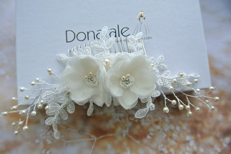 Wedding Headpiece Wedding Hair Flower UK Rose Gold Bridal Hair Comb Bridal Headpiece AM\u00c9LIE Bridal  Hair Piece Wedding Hair comb