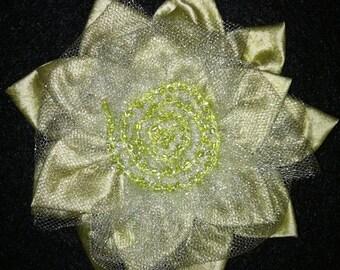 Light Green Silk Brooch