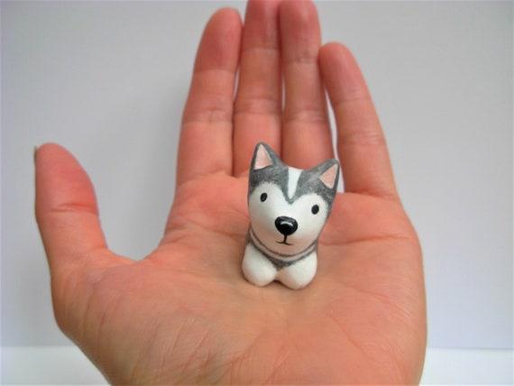 Tundra The Siberian Husky Puppy Gray And White Miniature Etsy