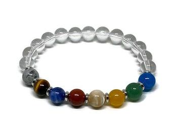 Solar System Bracelet, Planet Bracelet, Astronomy Gift, Astronomy Bracelet, Planet Jewel, Men Bracelet, Women Bracelet, Geek Bracelet, Geek