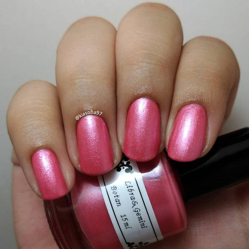 Libra&Gemini Five Free Nail Polish Botan Coral Pink 15ml | Etsy
