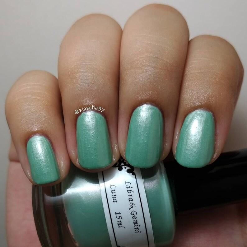 Libra&Gemini Five Free Nail Polish Luna Mint Green 15ml | Etsy