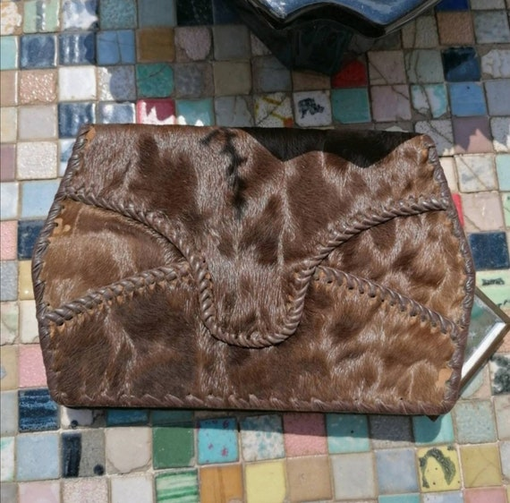 40s increíble cow leather Clutch