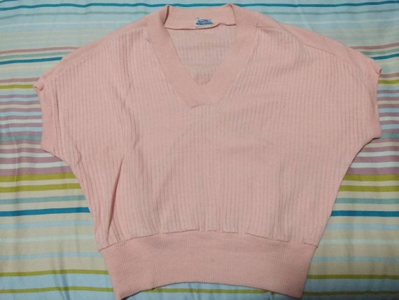 1950s vlv pink knitted sweater