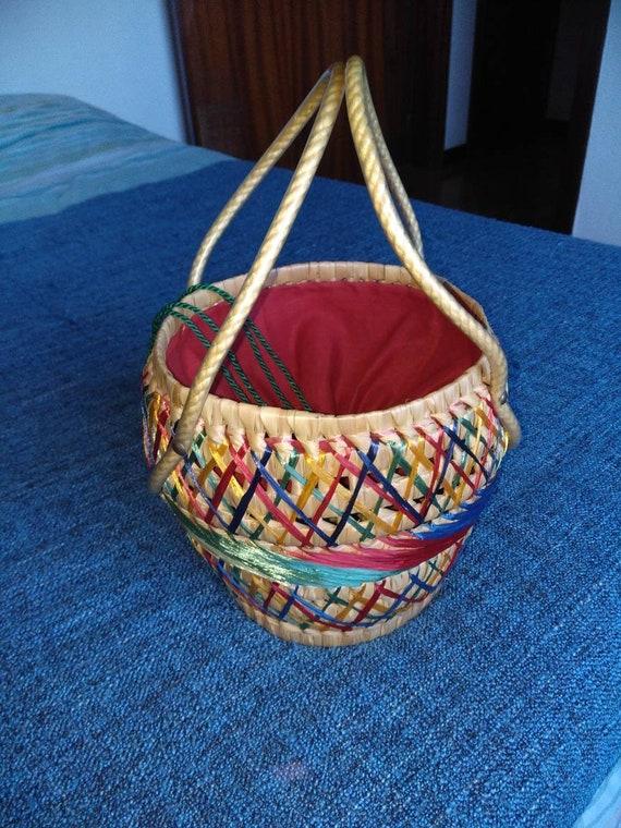 50s summer wicker bag