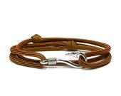 Smolder Adjustable Double Wrap Paracord Men Women Unisex Nautical Fish Hook Bracelet - Anklets - Best Paracord Bracelet