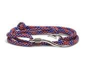 Uncle Sam Diamonds Adjustable Double Wrap Paracord Men Women Unisex Nautical Fish Hook Bracelet - Anklets - Best Paracord Bracelet