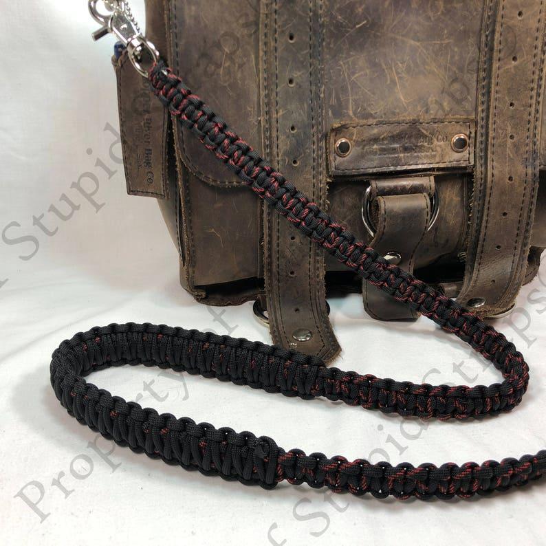 Reflective Desert Camo Paracord 50 inch Cross Body Shoulder Strap Satchel Strap