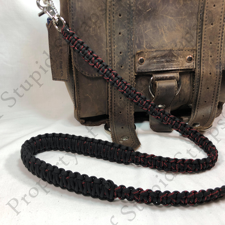 Handbag Lunch Bag Satchel Strap Jamaican Pattern Paracord 40 inch Cross Body Shoulder Strap Duffel Bag