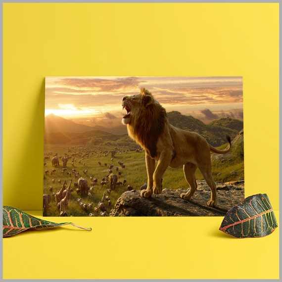 The Lion King Simba Roar 2019 Poster Walt Disney Movie Movie Poster Kidroom Decor Gift For Kid Home And Wall Decor
