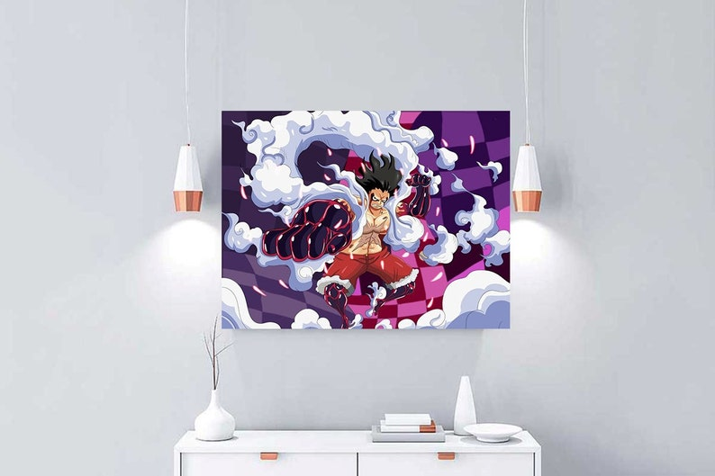 One Piece Monkey D Luffy Poster Gear 4 Poster No Frame One Piece Strong World Anime Poster Wall And Home Decor Kidroom Decor