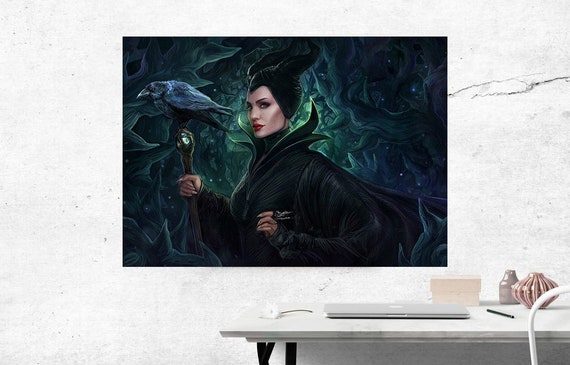 Maleficent Mistress Of Evil Poster Angelina Jolie Movie Poster Home And Wall Decor Fairy Tale Sleeping Beauty Inspired 03