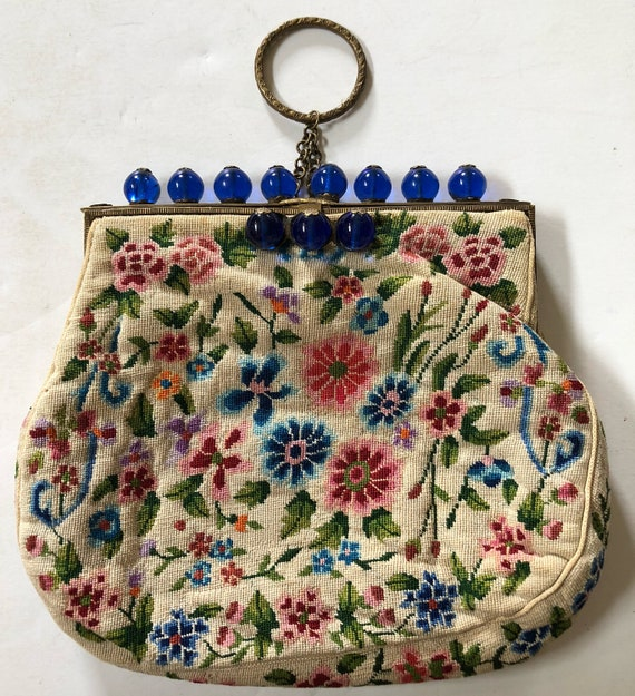 French Tapestry Dangle Purse