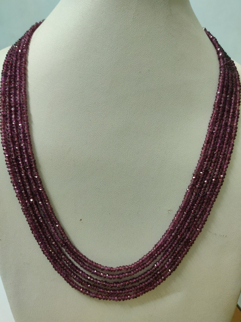 Natural Garnet Beads Size 2.5mm 13 Inch Strand Garnet Gemstone Natural Garnet Gemstone Beads Natural Garnet Faceted Round Beads
