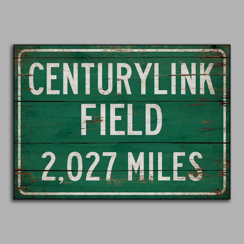 a09cac7f Personalized highway/road distance sign Centurylink Field Hwy sign print on  wooden Seattle Seahawks decor wall decor
