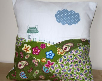 Handmade cushion with russian doll applique etsy