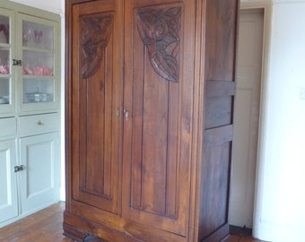 1920s Art Deco Style French Armoire Wardrobe