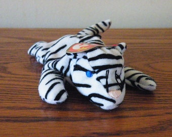 4d6161ef9c2 McDonald s Happy Meal TY Teenie Beanie Babies Blizz the White Tiger Plush  Stuffed Bean Animal with Tag