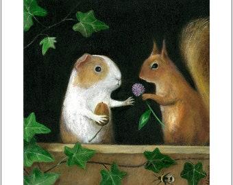 "Fine Art Print of an Original Animal Painting: ""Star Crossed Lovers"""