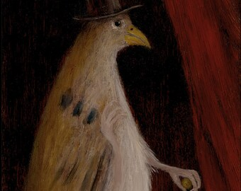 """Animal Painting: """"Mr. Feathers"""""""