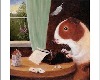 "Fine Art print: ""The Detective Writer"""