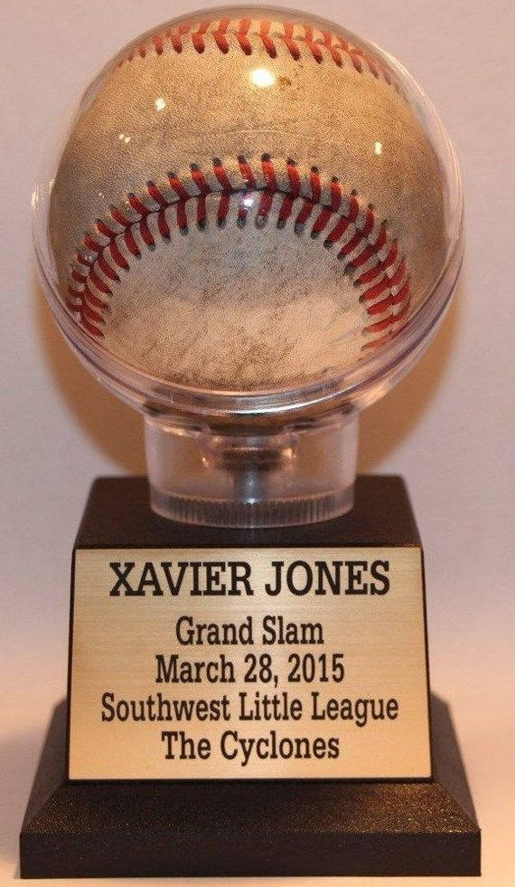 Baseball Display Case Holder Free Engraved Nameplate Etsy