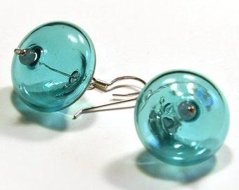Crystal jewelry, Blown glass earrings, Blown glass jewelry, Mom gift, Grandma gift, Teacher gift, Girlfriend gift, Under 30 Crystal earrings
