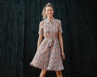 Sydney Dress - Bridesmaids Dress - Floral Dress - Bohemian Dress - Romantic Dress - Wide Skirt Dress - Summer Dress - Long Women Dress
