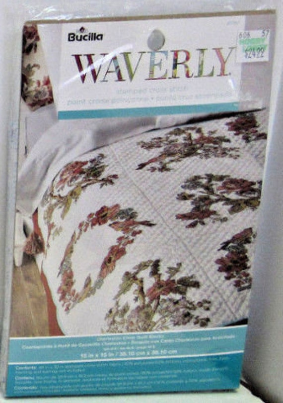 Stamped Cross Stitch Quilt Kit Embroidery Waverly Charleston Etsy