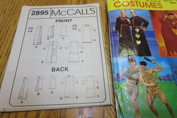 McCall/'s 2895 Adult Costume Pattern All Sizes Fantasy Royalty Caveman Devil