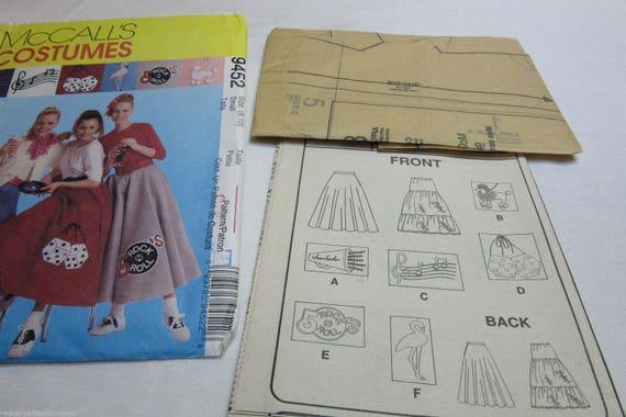 McCalls Muster 9452 Pudel Rock 50er Jahre Kostüm Hund Würfel | Etsy