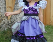 Girls 2-3 Black and Purple dress up apron