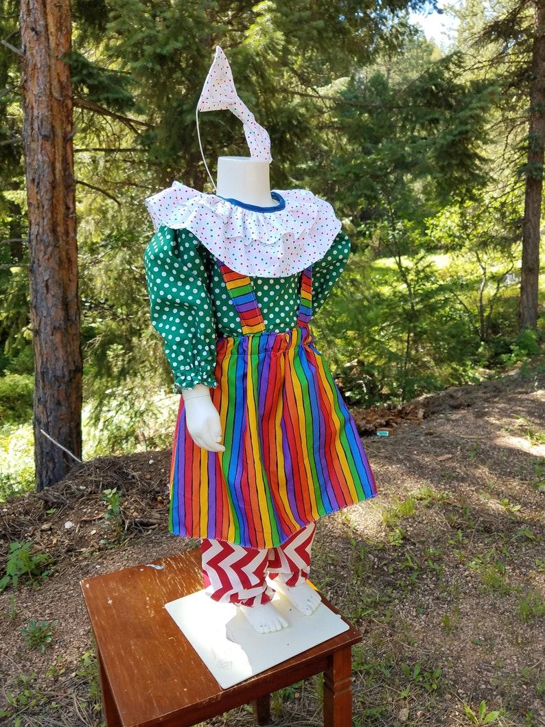 Adorable Girls 4T 4 piece Clown Costume