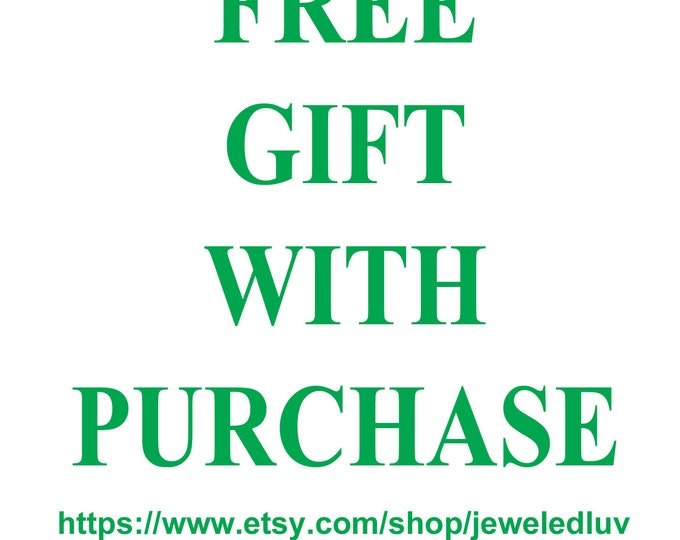 Featured listing image: Jeweledluv Free Gift with Purchase Gift for Her Gift for Him ladies womens mens Jewelry Jewellery Jewellry sale