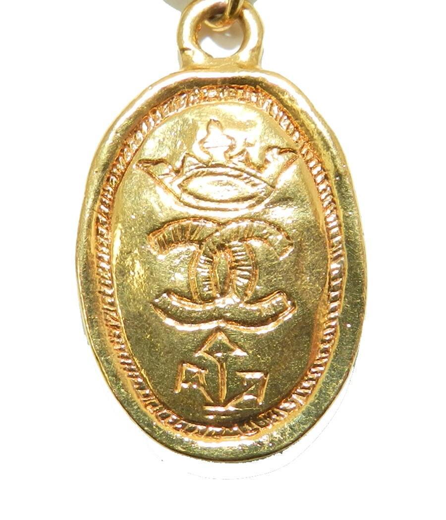 a246eb011858a0 Chanel CC Logo Pendant Charm, Chanel Jewelry Jewellery, Vintage ...