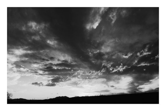 Cloudy Afternoon,  Black and White Fine Art Photography Print   (Hi-Res Digital Download)