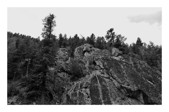 Rocky Outcropping,  Black and White Fine Art Photography Print   (Hi-Res Digital Download)