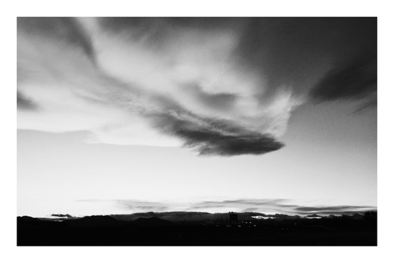 Cloud Show,  Black and White Fine Art Photography Print   (Hi-Res Digital Download)