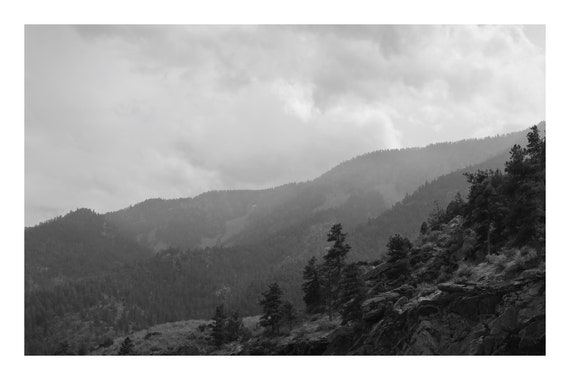 Hazy Day In The Canyon,  Black and White Fine Art Photography Print   (Hi-Res Digital Download)