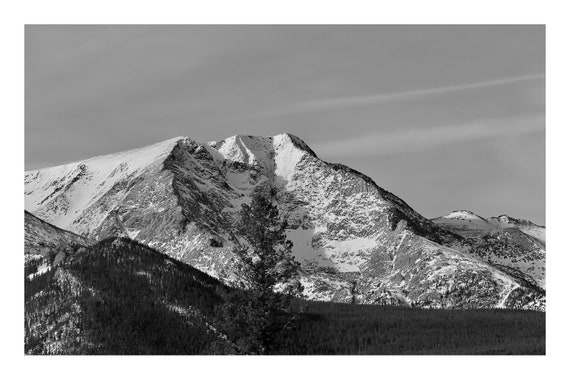 Majestic Mountain,  Black and White Fine Art Photography Print   (Hi-Res Digital Download)