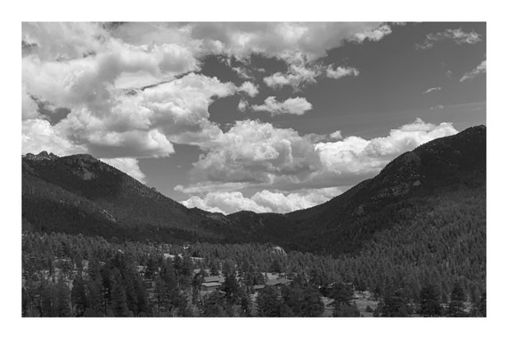 Shining Valley,  Black and White Fine Art Photography Print   (Hi-Res Digital Download)