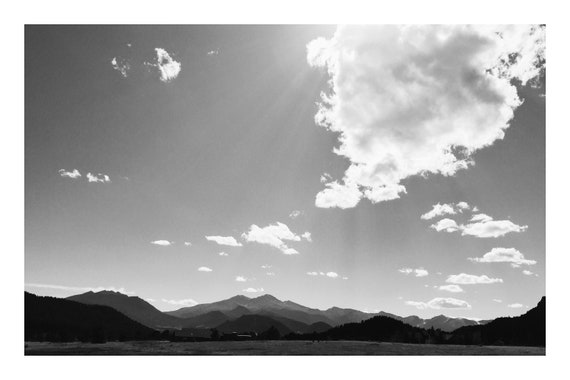 Mountains Out There,  Black and White Fine Art Photography Print   (Hi-Res Digital Download)